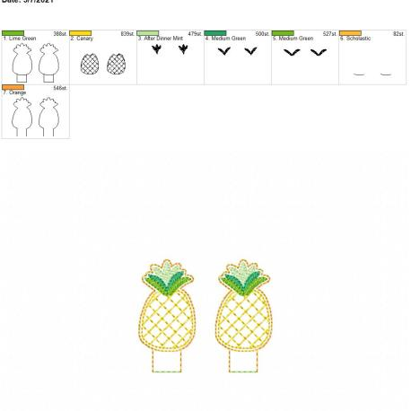 Pineapple Pencil-Topper 4×4 grouped