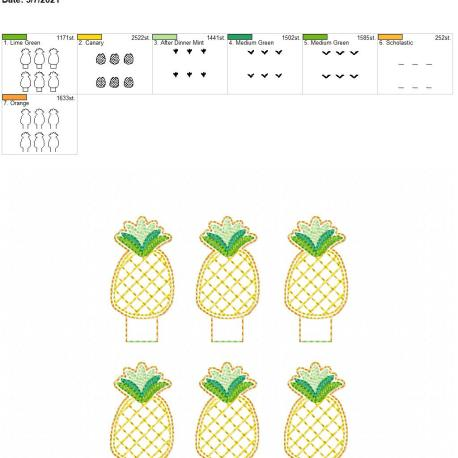 Pineapple Pencil-Topper 5×7 grouped