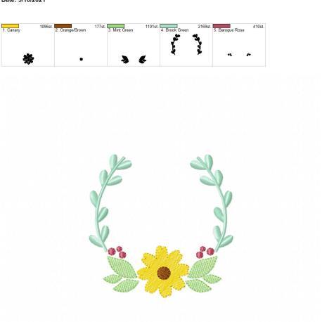 flower frame 4×4