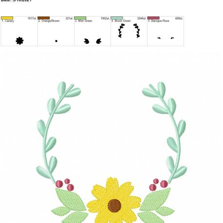 flower frame 6×10