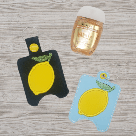 Lemon Applique Sanitizer Holders – DIGITAL Embroidery DESIGN