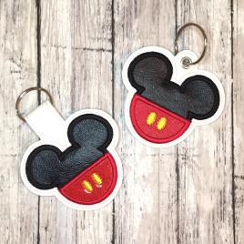 Mouse Applique Fobs – DIGITAL Embroidery DESIGN