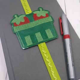 Strawberry Pint Book Band – Embroidery Design, Digital File