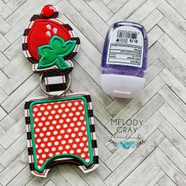 Strawberry Applique Fold Over Sanitizer Holder 5×7- DIGITAL Embroidery DESIGN