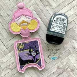 Sleeping Princess Applique Fold Over Sanitizer Holder 5×7- DIGITAL Embroidery DESIGN