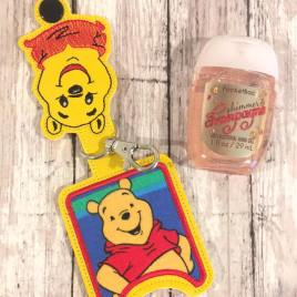 Silly Bear Applique Fold Over Sanitizer Holder 5×7- DIGITAL Embroidery DESIGN