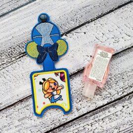 Wonderland Girl Applique Fold Over Sanitizer Holder 5×7- DIGITAL Embroidery DESIGN