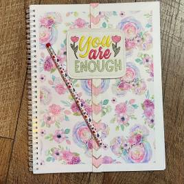 You Are Enough Book Band – Embroidery Design, Digital File