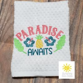 Paradise Awaits – 3 sizes- Digital Embroidery Design