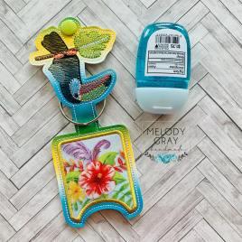 Toucan Sketch Applique Fold Over Sanitizer Holder 5×7- DIGITAL Embroidery DESIGN
