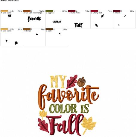 Favorite color is fall 4×4
