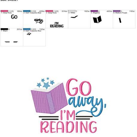 Go Away I'm Reading 8×12