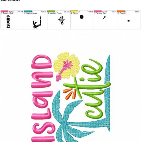 Island Cutie 5×7