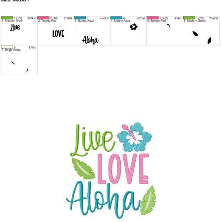 Live Love Aloha 8×12