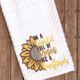 Be a Sunflower – 4 sizes- Digital Embroidery Design