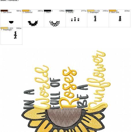 Be a Sunflower 6×10