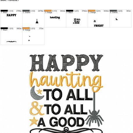 Happy Haunting 5×7