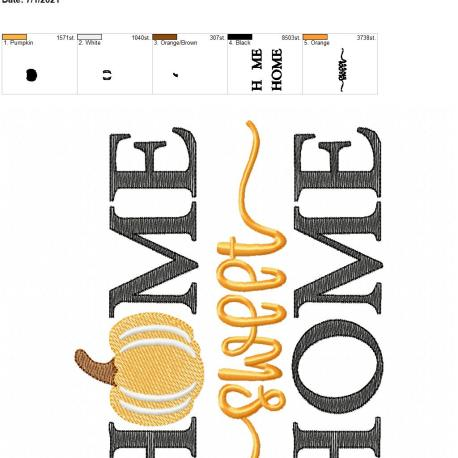 Home Sweet Home Pumpkin 6×10