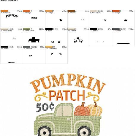 Pumpkin Patch 5×7