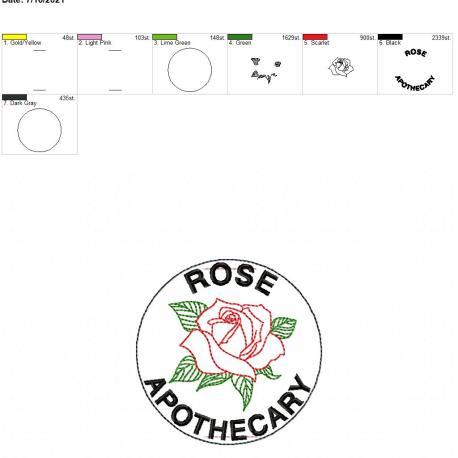 Rose Apothecary Book band 4×4