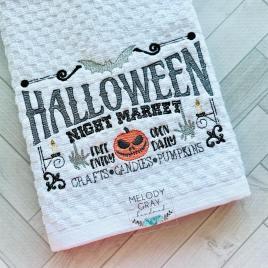 Halloween Night Market – 3 sizes- Digital Embroidery Design
