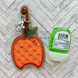 Plaid Pumpkin Applique Fold Over Sanitizer Holder 5×7- DIGITAL Embroidery DESIGN