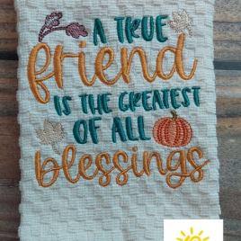 A True Friend – 4 sizes- Digital Embroidery Design