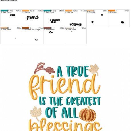 A true friend 5×7