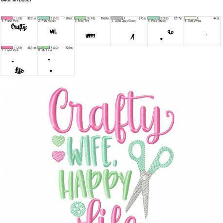 Crafty wife happy life 5×7