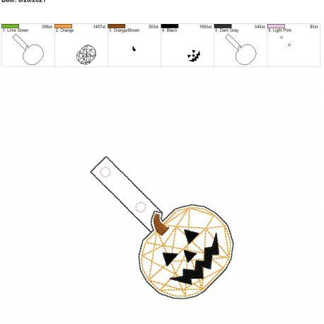 Geometric jack o lantern snaptab 4×4