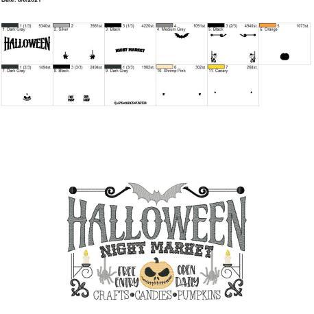 Halloween Night Market 8×12