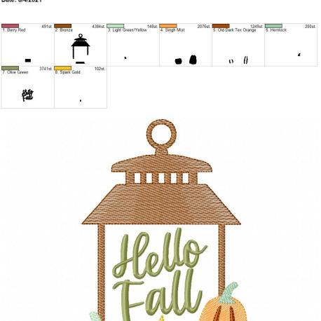 Hello Fall 5×7