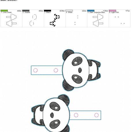 Kawaii Panda Snaptab 5×7 grouped