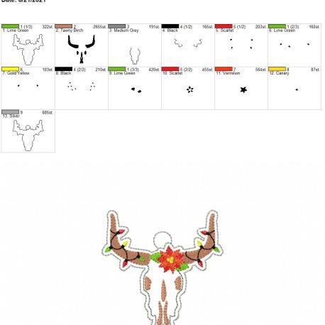 Longhorn Ornament 4×4