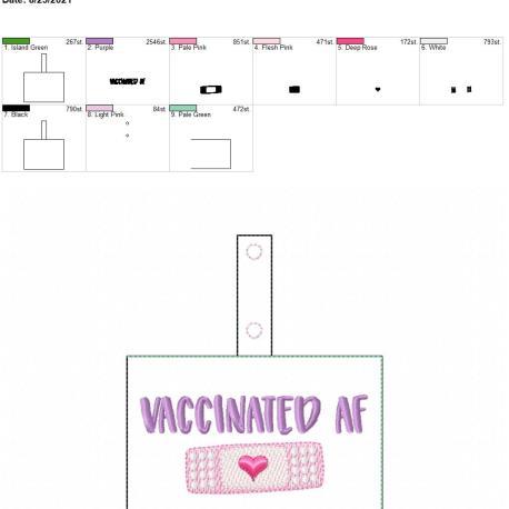 Vaccinated AF Snaptab 5×7
