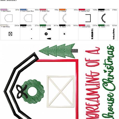 farmhouse christmas 8×12