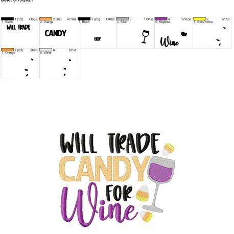trade candy for wine 8×12
