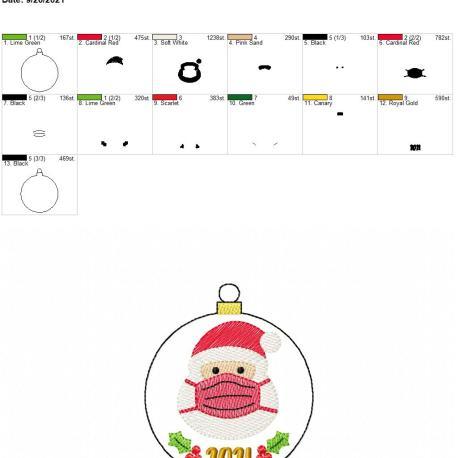 2021 Masked Santa ornament 4×4