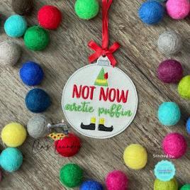 Arctic Puffin Ornament – Digital Embroidery Design