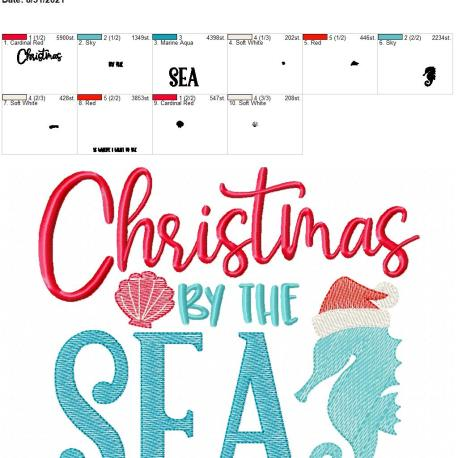Christmas by the sea 8×12