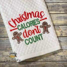 Christmas Calories Don't Count Gingerbread – 3 sizes- Digital Embroidery Design