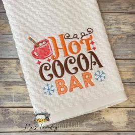 Hot Cocoa Bar – 4 sizes- Digital Embroidery Design