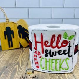 Hello Sweet Cheeks – TP tie 4×4 – DIGITAL Embroidery DESIGN