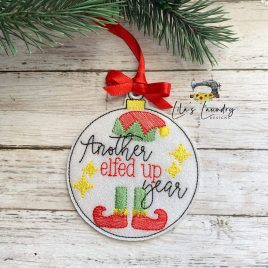 Another Elfed Up Year Ornament – Digital Embroidery Design