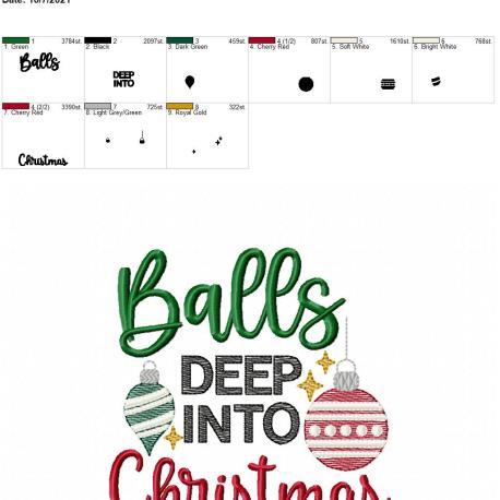 Balls deep into Christmas 5×7