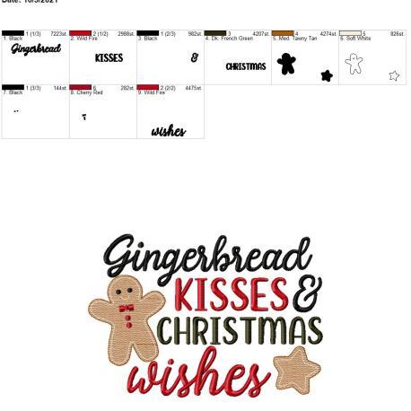 Gingerbread kisses 8×12