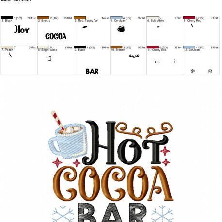 Hot Cocoa Bar 5×7