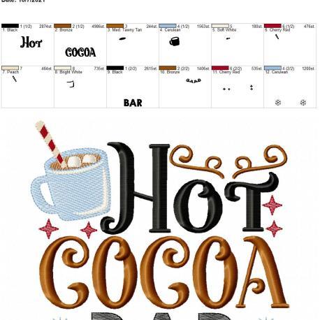 Hot Cocoa Bar 8×12