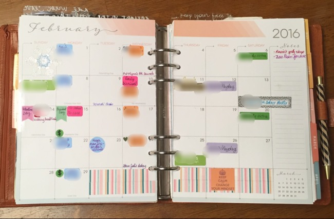 planner, binders, van der spek, vds, planner setup, inkwell press, month on two pages, calendar inserts