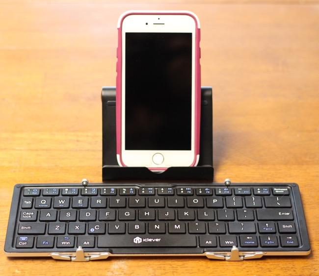 tech gadgets, iclever, iphone, portable keyboard, bluetooth keyboard